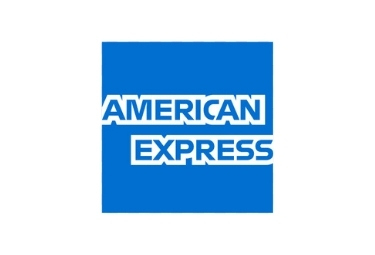 American Express Logo, blue with white lettering