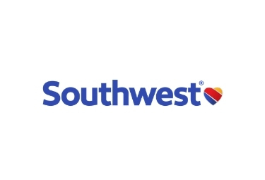 Southwest Airlines logo, blue with colorful heart